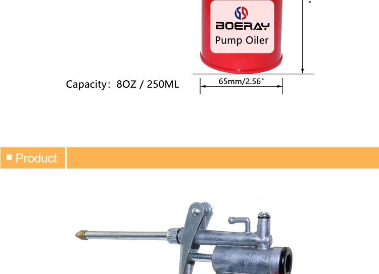 Boerray pistola de lubrificação portátil, 2 peças,