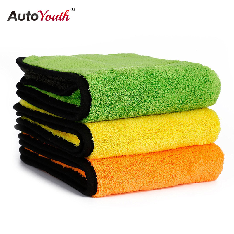 все цены на AUTOYOUTH 850gsm Luxury Super Thick Plush Microfiber Car Cleaning Cloths Car Care Microfibre Wax Polishing Detailing Towels онлайн