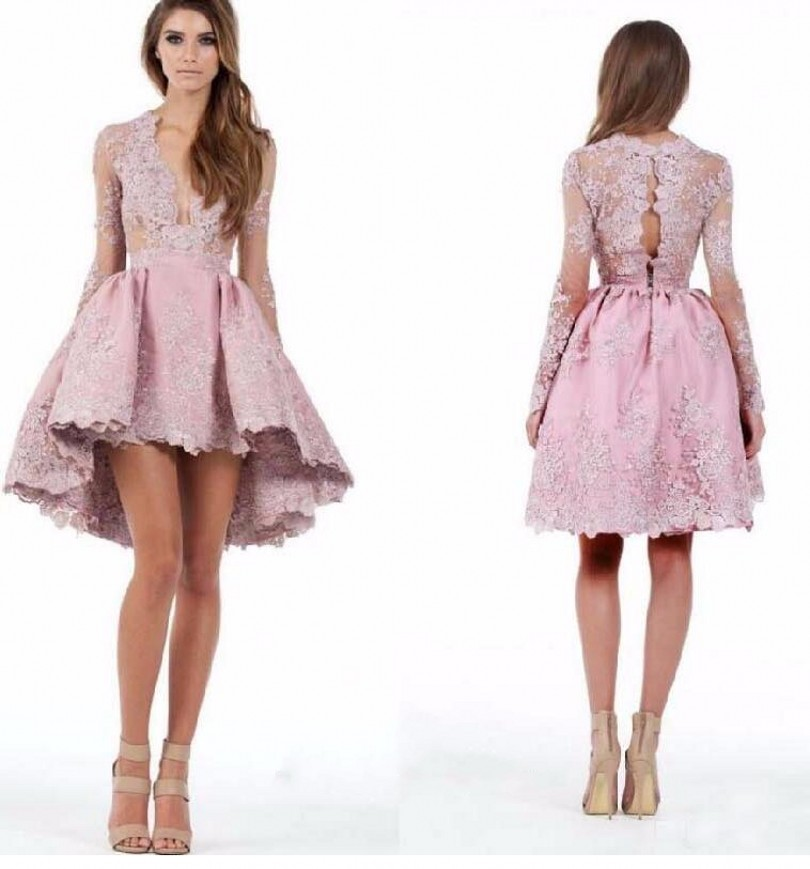 ANTI Vintage Elegant Cocktail Dresses With Long Sleeves Vestidos De ...