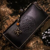 Luxury brand high grade diamond agate women wallets genuine leather embossing mystery characters calfskin riches clutch purse