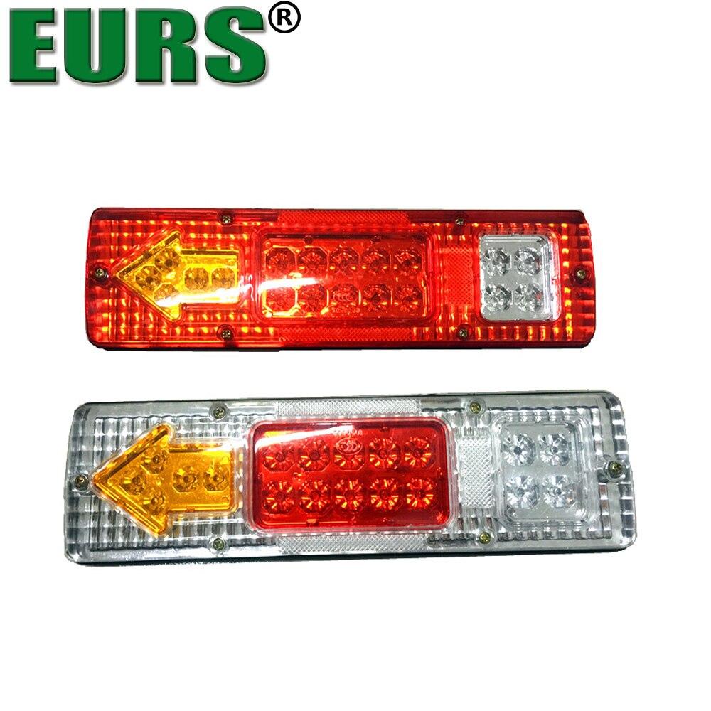 EURS Car Trucks Trailer Rear Tail Light LED 24V DC Trailers Van Lamp Reversing Stop Turn Light Indicator Lamp 12V