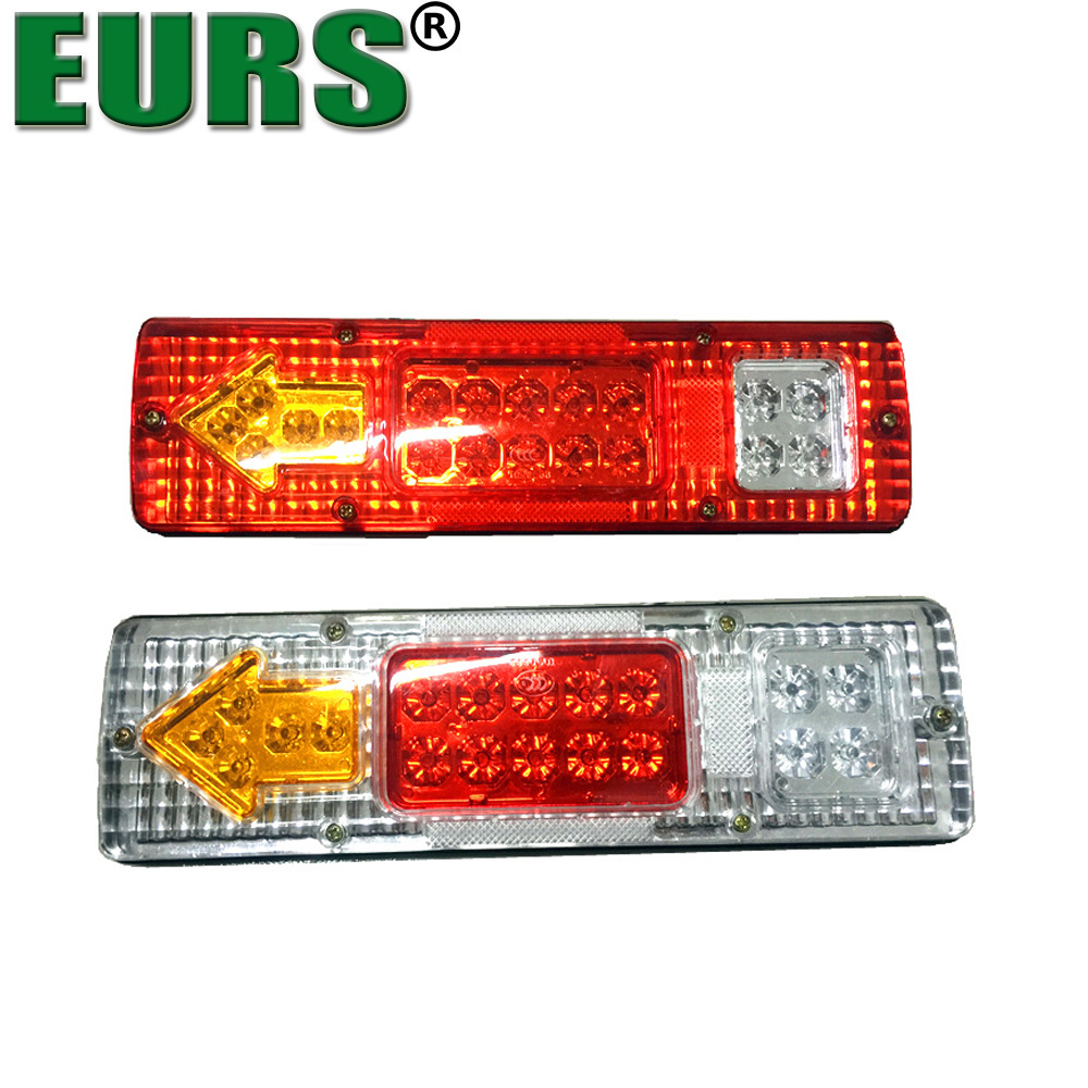EURS Car Trucks Trailer Rear Tail Light LED 24V DC Trailers Van Lamp Reversing Stop Turn Light Indicator Lamp 12V