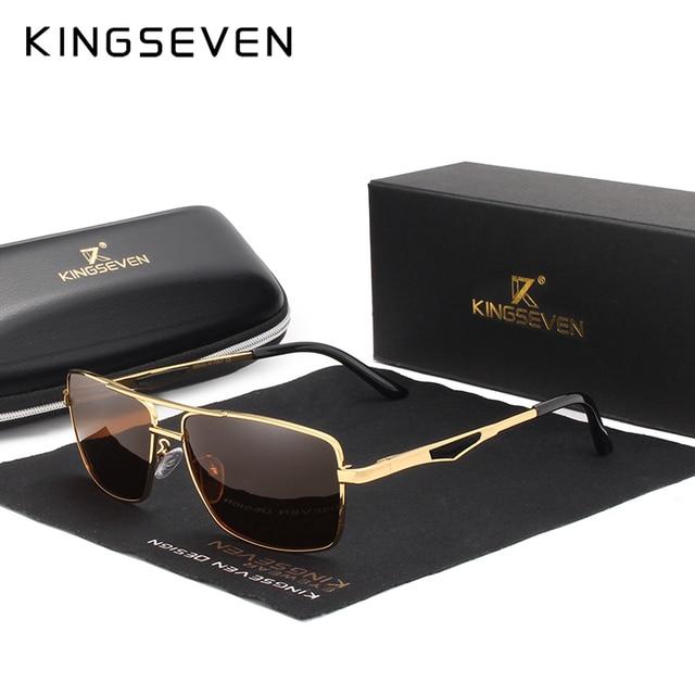 KINGSEVEN מותג עיצוב מקוטב משקפי שמש גברים גוונים זכר בציר משקפיים שמש לגברים Spuare מראה קיץ UV400 Oculos