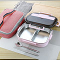 304 Rvs Thermos Thermische Lunchbox Whit Tas Set Kid Volwassen Bento Boxs Lekvrij Japanse Stijl Voedsel Container Draagbare