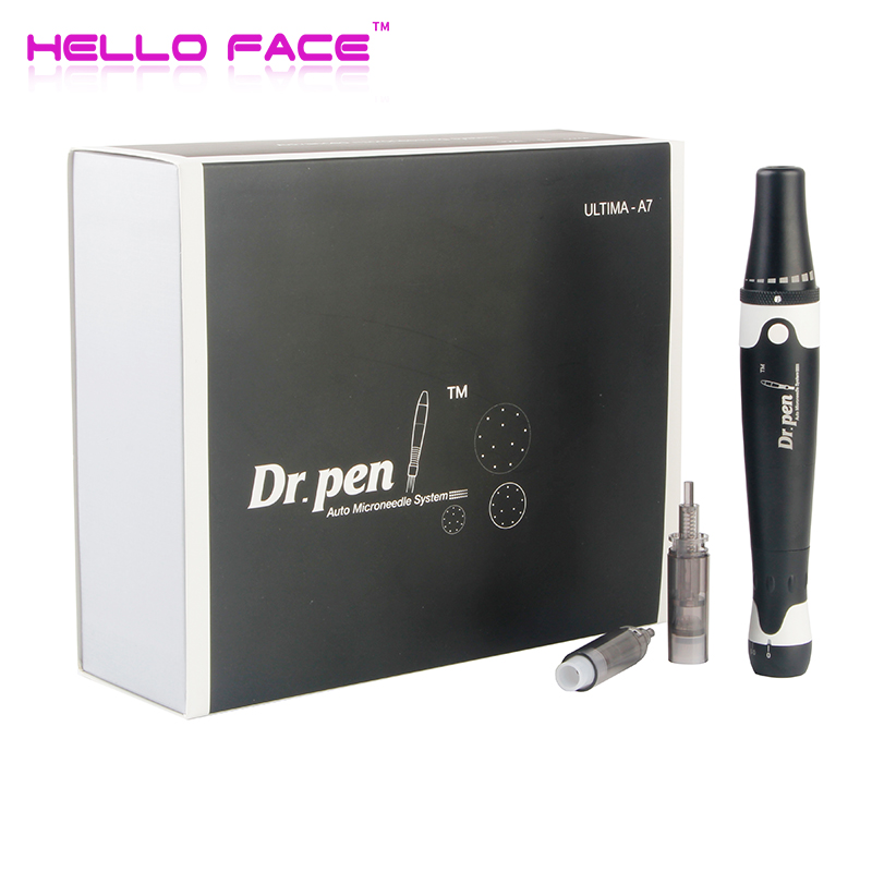 New Dr. Pen A7 Derma Pen Eye Care Massager Auto Mcro Needle Cartridges Pen Wired Microneedling System