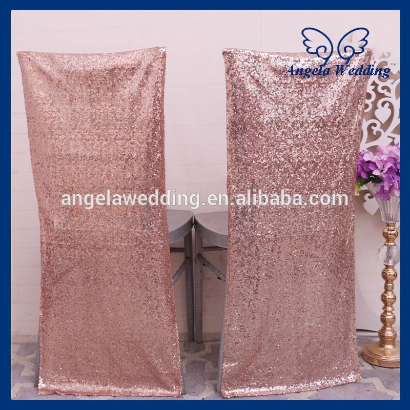 Outstanding Ch004Ha Popular Discount Cheap Wedding Metalic Rose Gold Sequin Chair Cover Alphanode Cool Chair Designs And Ideas Alphanodeonline