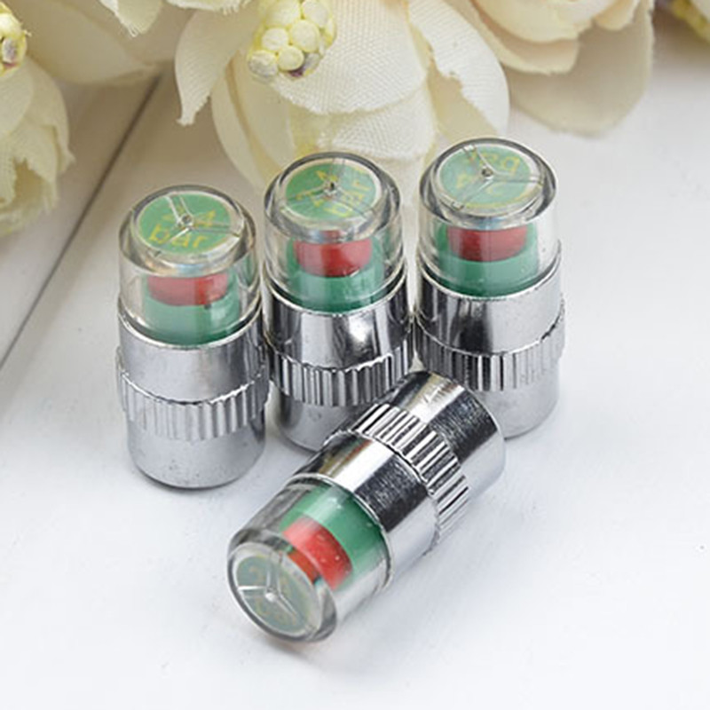 4Pcs 10*8*2cm High Quality Monitoring Valve Pressure Gauge Indicator Alert For Car Not Motorcycle Auto Car Accessories Camping