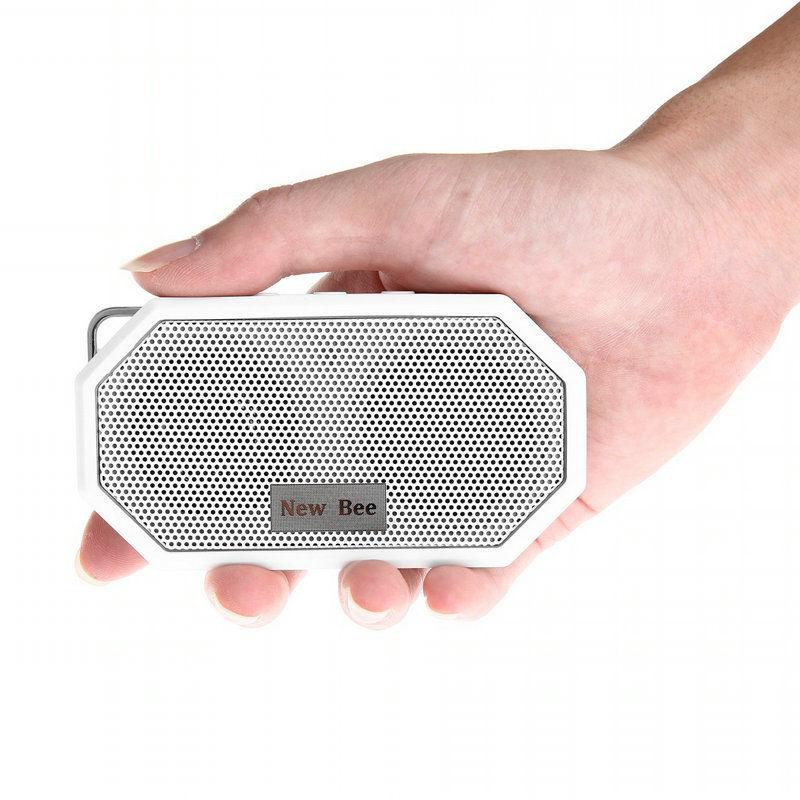 Mini Étanche Sans Fil Portable Bluetooth Haut-Parleur Microphone Rechargeable