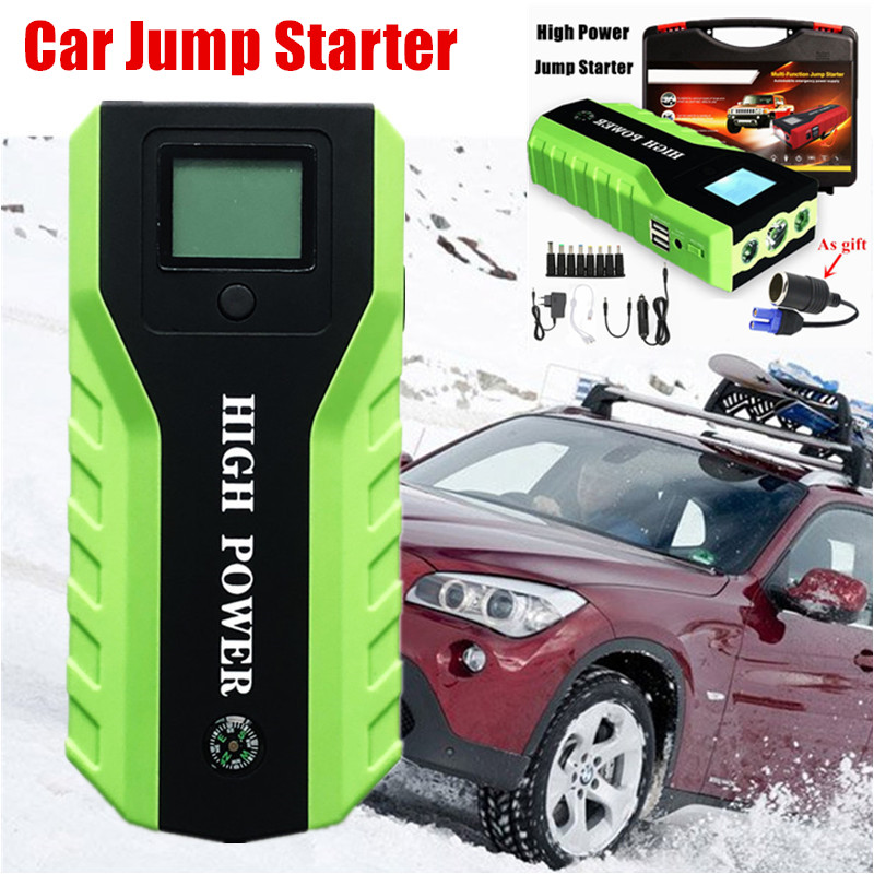 Portable High Power Multi function 600A 12V Car Jump Stater Newest Emergency Car Power Bank Battery