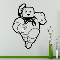 Ghostbusters Stay Puft Wall Vinyl Decal Animated Series Wall Sticker Cartoons Home Interior Removable Children Decor