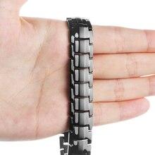 f88a13f50096 Poco FrogFashion joyería de curación abeto Bio magnético de acero de  titanio pulsera de energía para los hombres de la presión a.