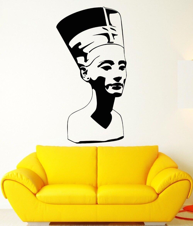 ④The Egypt Vinyl Wall Decal Nefertiti Egypt Pharaoh Statue Ancient ...