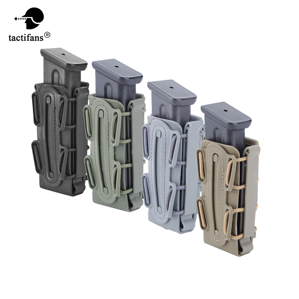 9mm Molle Pistol Mag Military Magazine Pouch Holster Fastmag with Belt Clip and Molle Soft Shell Mag Pouch Plastic Pouch