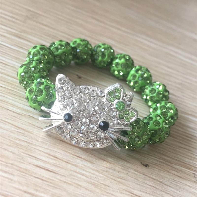 1 SZTUK Hello Kitty Bransoletki dla dzieci Handmade Rope Chain Wrap - Modna biżuteria - Zdjęcie 3