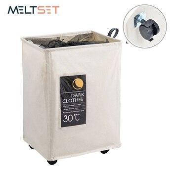 Canasta de almacenamiento plegable de con ruedas de gran organizar bolsa lavandería cesta para artículos juguetes titular sucio lavadora de ropa cesto bolsa