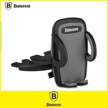 Original Baseus Universal 360 rotation CD Player Smartphone Mobile Phone Car Mount Holder Stand Bracket For Moblie GPS