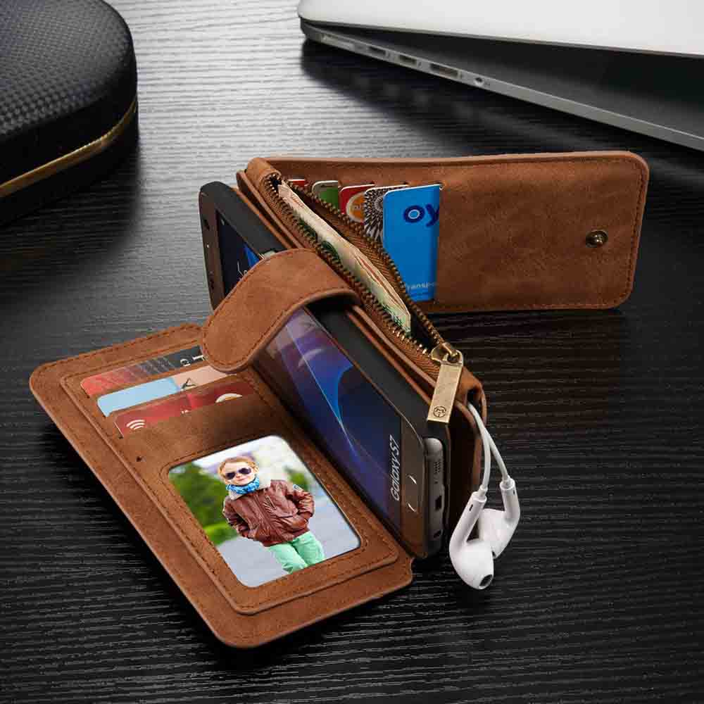 Superior Luxury Leather Case for Samsung Galaxy S6 Edge Plus Note5 S7 S7edge Multi Functional Flip