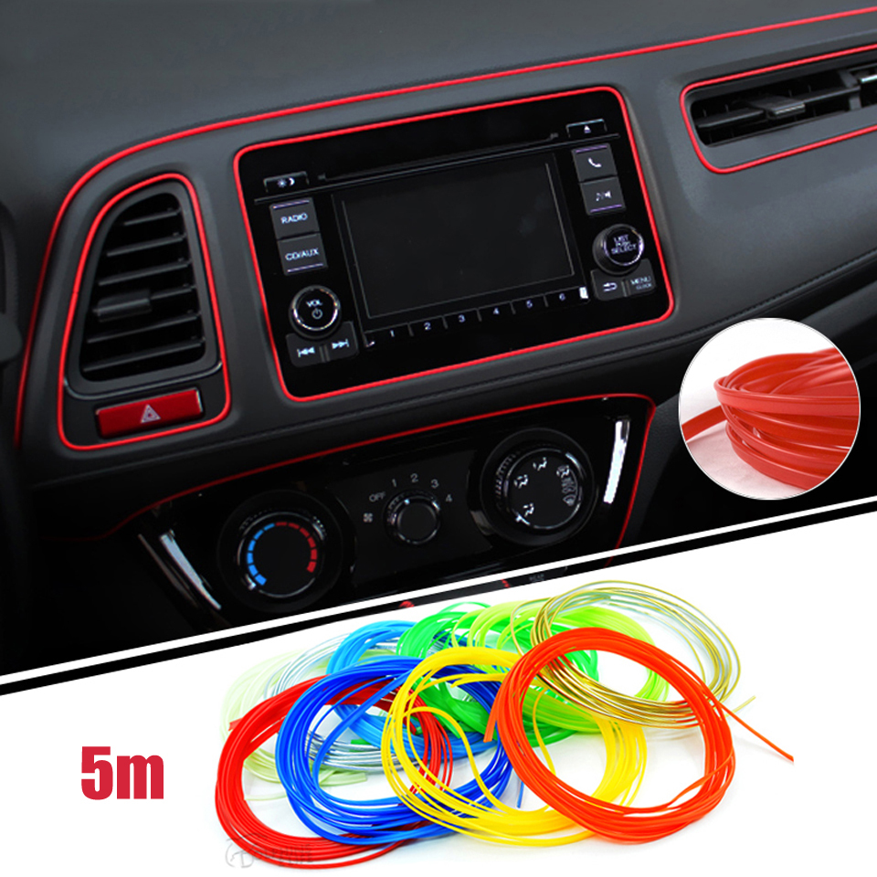 5m lot universal car styling sticker on cars interior car decoration moulding trims strips. Black Bedroom Furniture Sets. Home Design Ideas