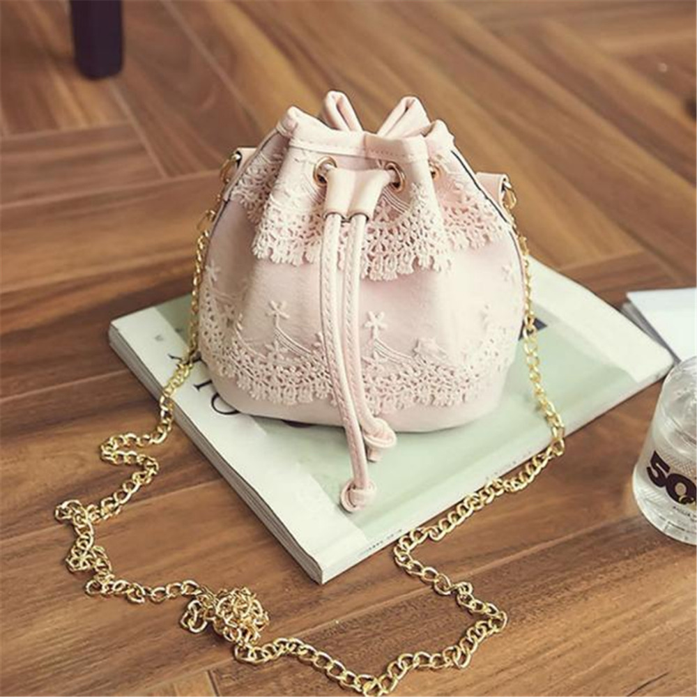2018 New Fashion Women Messenger Bags Fashion Lace PU Leather Handbag Shoulder Bags Tote Purse Messenger Satchel Bag Cross Body 2017 fashion summer women shoulder bags leather high quality messenger bag boston flowers handbag cross body bags tote purse