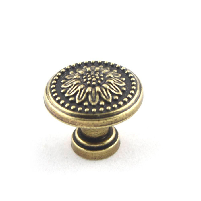 Antique Bronze Cabinet Drawer Furniture Door Hardware Vintage Round Zinc Alloy Cupboard Wardrobe Pull Handle