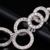 Elegante Fêmea 5 Linhas Círculo Longo Grandes Brincos Pendurados com Cluster Marquise CZ Brincos de Cristal para As Mulheres Da Moda E10247