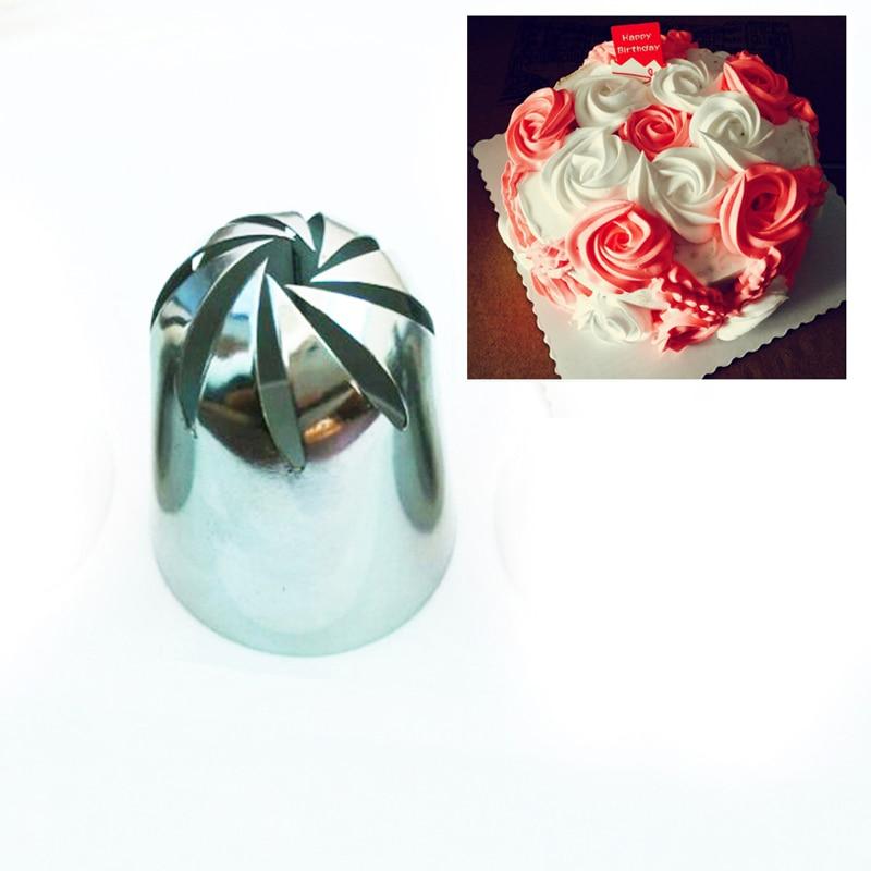 903L # Large Rose Pastry Dyser Stainless Steel Cake Decorating Tips Sugarcraft Bagværk Værktøj Fondant
