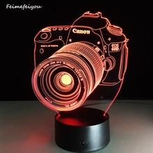 O novo lampada levou câmera entretenimento 3D lâmpada LED atmosfera colorida controle remoto visão estéreo personalizado lâmpada acrílico lâmpada