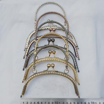 vintage carve pattern DIY metal bag clas...