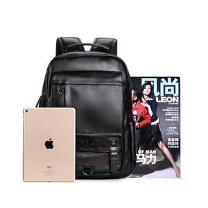 Image 3 - LIELANG Backpack Mens Mochila Masculina Men Fashion Trend Large Capacity Youth Leisure Black Travel Leather Computer Bag Mens