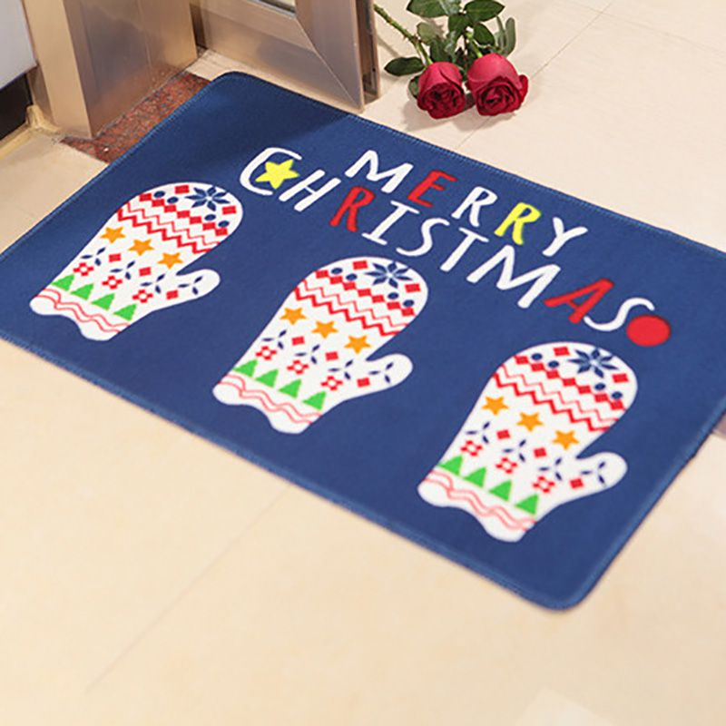Funny Cartoon Christmas Print Floor Mat Living Room Kitchen Door Mats Foyer Bedroom Bathroom Non-slip Mats image