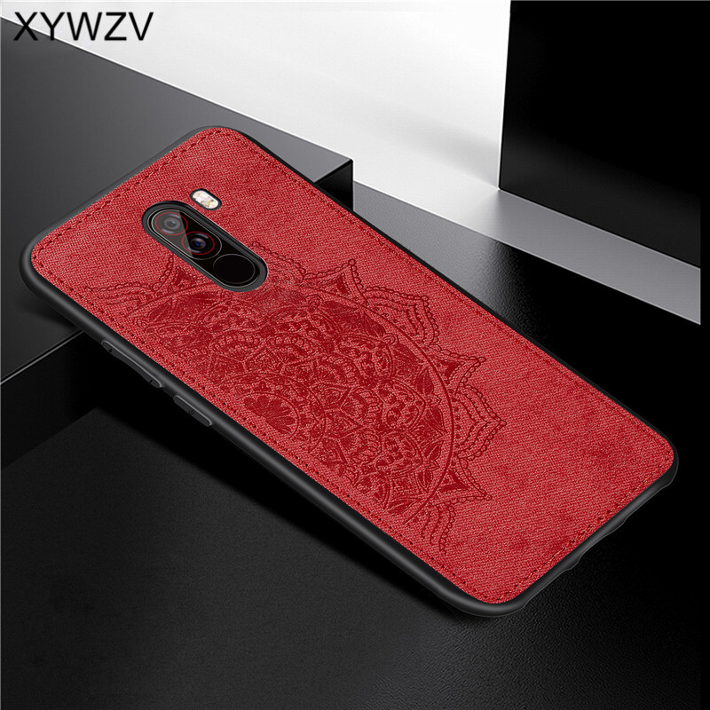 Image 1 - Xiaomi Pocophone F1 Case Soft TPU Silicone Cloth Texture Hard PC Phone Case For Xiaomi Pocophone F1 Cover Xiaomi Pocophone F1-in Fitted Cases from Cellphones & Telecommunications