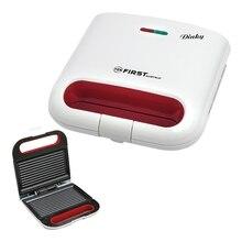 Сэндвич-тостер FIRST FA-5338-5 White(Мощность 800 Вт, вместимость отсека 2 сэндвича, антипригарное покрытие, защита от перегрева, Световая индикация включения