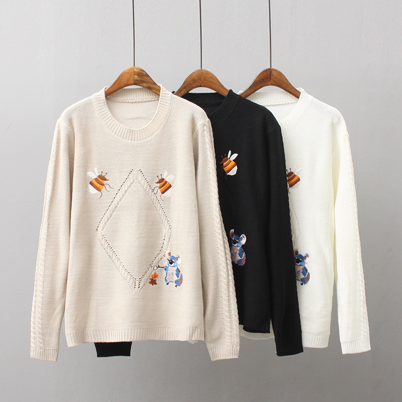 2018 Women Sweaters and pullovers Christmas Sweaters Pull Femme Loose Jumpers Mujer Oversized Sweater Korean Pull femme