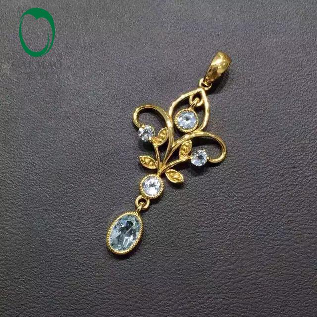Promoção 2.85ct Flawless Topázio 14 K Ouro Amarelo de Noivado de Diamante Jóias Pingente
