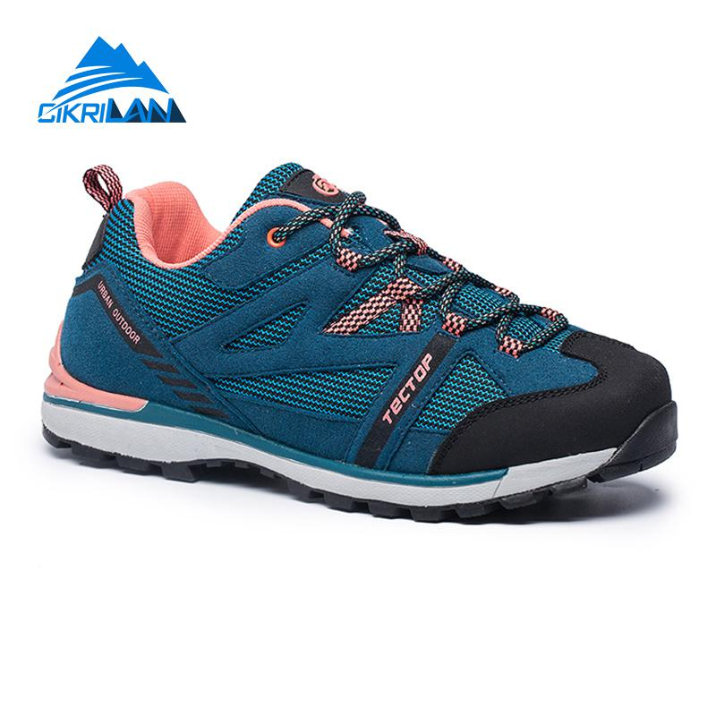 New Womens Water Resistant Breathable Low-top Lace-up Sports Trekking Shoe Outdoor Climbing Hiking Shoes Women Camping Sneakers недорго, оригинальная цена