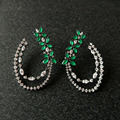 B315A 2016 Brand New Small Flower and Cubic Zircon stud Earrings for Women JP25