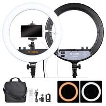 Fosoto FT 240RL anneau lampe 14 pouces éclairage photographique 240 Leds 3200 5600K caméra Photo Studio téléphone Led anneau lumière à distance