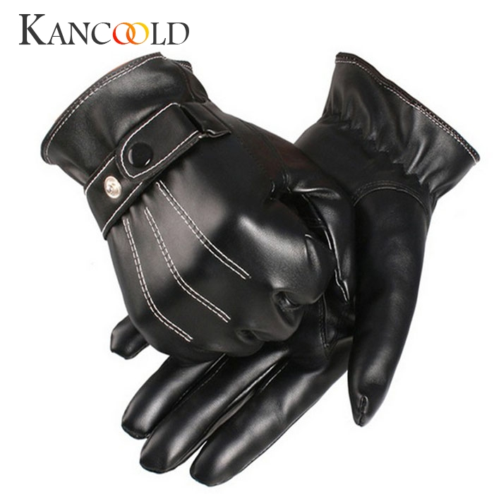 KANCOOLD Gloves Mens Luxurious PU Leather Winter Super Driving Warm Gloves Cashmere High Quality Casual Gloves Men 2018NOV23