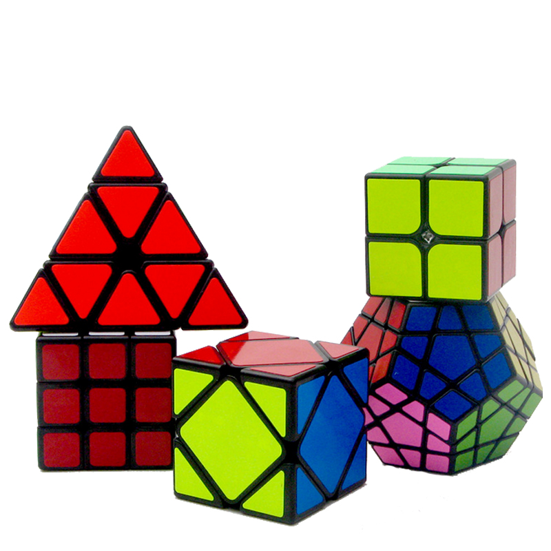 5 PCS/ Set 2x2x2 3x3x3 Magic Speed Cube Professional Pyraminx Megaminx Skew Cube Educational Learning Toys For Kids Puzzle Cubo shengshou 10x10x10 magic cube puzzle black and white and primary learning