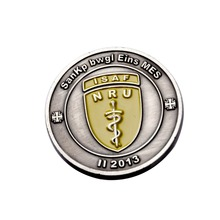 Manufacturers custom metal commemorative coins silver made military