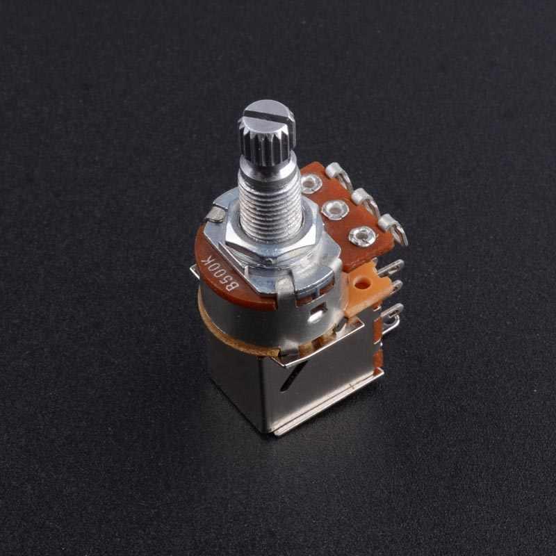 Perilla de interruptor de guitarra A500K B500K A250K B250K, potenciómetro de Control de guitarra, potenciómetros de volumen parte de guitarra