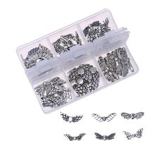 60pcs Butterfly Jewelry Components Angel Wings DIY Decor Charm Jewelry Pendant Chain Necklace Jewelry Accessories cheap 60pcs (6 kinds 10pcs each) silver 24 X 9mm pc (0 94 X 0 35 ) about 75g JOCESTYLE DIY Jewelry Pendants 0inch 2 4cm CN(Origin)