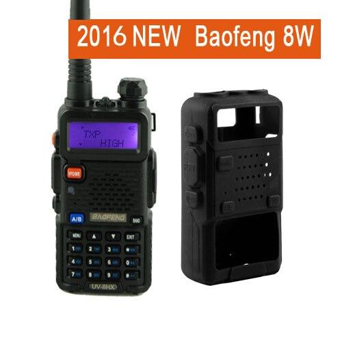 Baofeng uv5r walkie talkie høyfrekvente versjon UV-8HX, 1/4 / 8W power dual band toveis radio + beskyttelseskasse