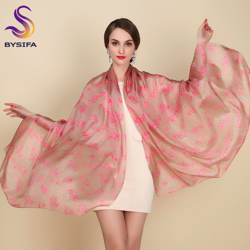 Yellow 100% Pure Silk Long Scarves Fashion Apparel Accessories Women Silk Scarf Tippet Spring Summer Autumn Winter Scarves Wraps