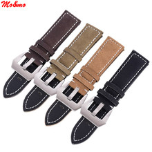 Men's Watch Bracelet Strap Stainless Steel Leather Matte Leather Buckle Watch Band