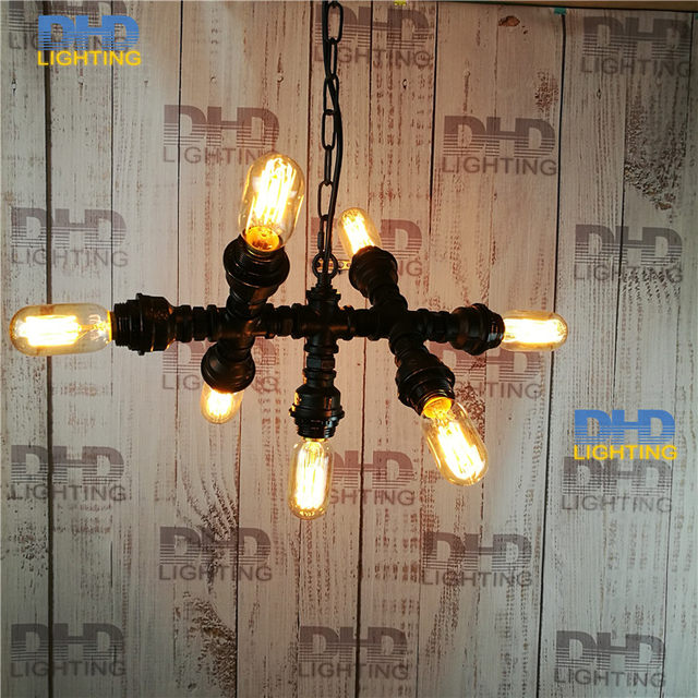 Online Shop Free shipping Water Pipe Wall Lamp Vintage Aisle Lamp ...