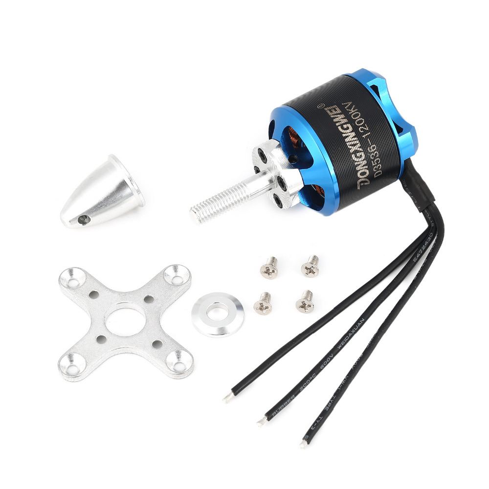 DXW D3536 1200KV 2-4S Brushless Motor for RC FPV Fixed Wing Airplane Aircraft 2000mm 2M Skysurfer Glider Plane Spare Parts