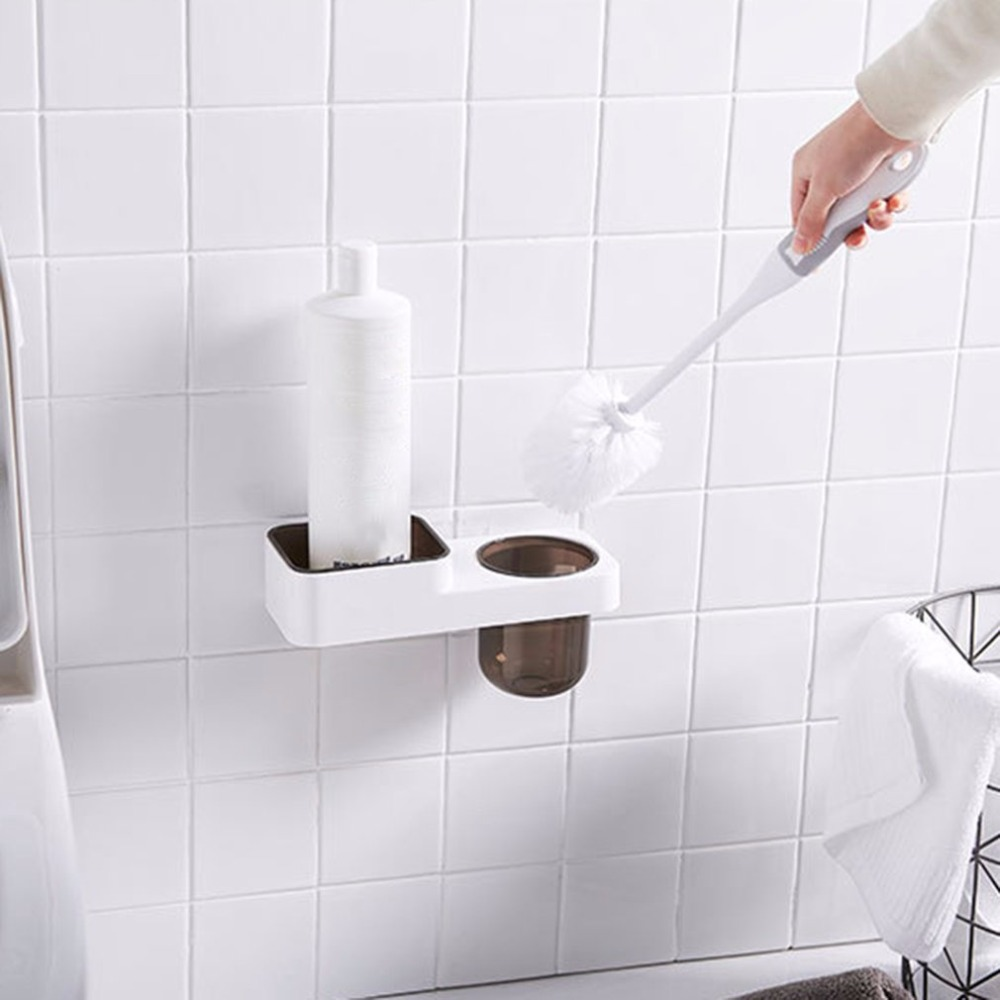 Bathroom: Toilet Brush Holders Wall Mounted Toilet Brush Storage Rack Bathroom Shelf Household Products With Toilet Brush Sets Toilet Brush Holders Wall Mounted Toilet Brush Storage Rack Bathroom Shelf Household Products With Toilet Brush Sets - Martin's & Co