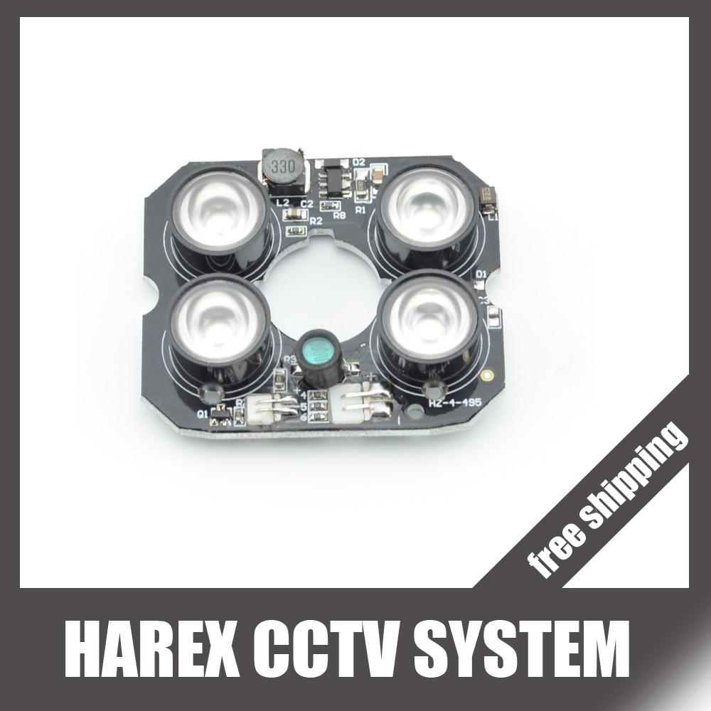 Безопасности Камера светодиодных ИК инфракрасный осветитель пластины совета с 4 шт. матрица светодиодов. Бесплатная доставка|plate|plate ledplate camera | АлиЭкспресс