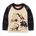 Camisetas de los niños de Dinosaurios de Algodón Superior Ropa Del Niño Camisa Del Resorte Del Otoño Niños Niñas Traje de Manga Larga ropa de Abrigo Ropa de Los Niños